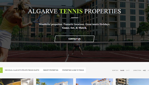 Pedro Henrique Ribeiro Freelancer Web Algarve Tennis Villas and Properties